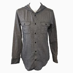 TNA ARITZIA | GREY BOYFRIEND FIT FLANNEL